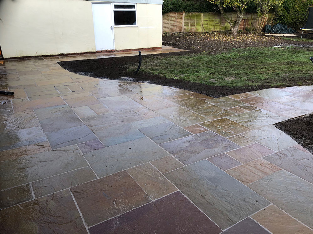 Autumn Brown Sandstone Path and Patio